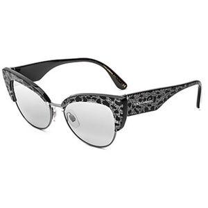 Dolce & Gabbana Silver & Black Sunglasses 53mm